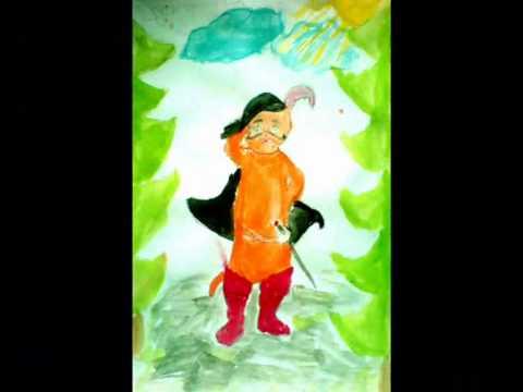Рисунки детей по мотивам сказки Кот в сапогах