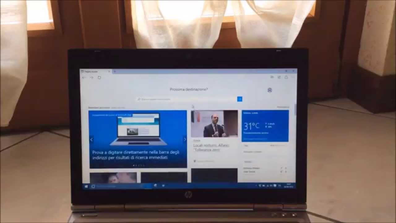 Windows 10 Running On Hp Elitebook 2560p Youtube Core I7