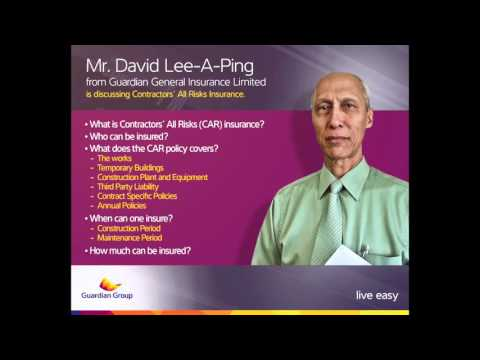 Inside Insurance - Contractors' All Risks Insurance - David Lee A Ping - Friday 25 September 2015
