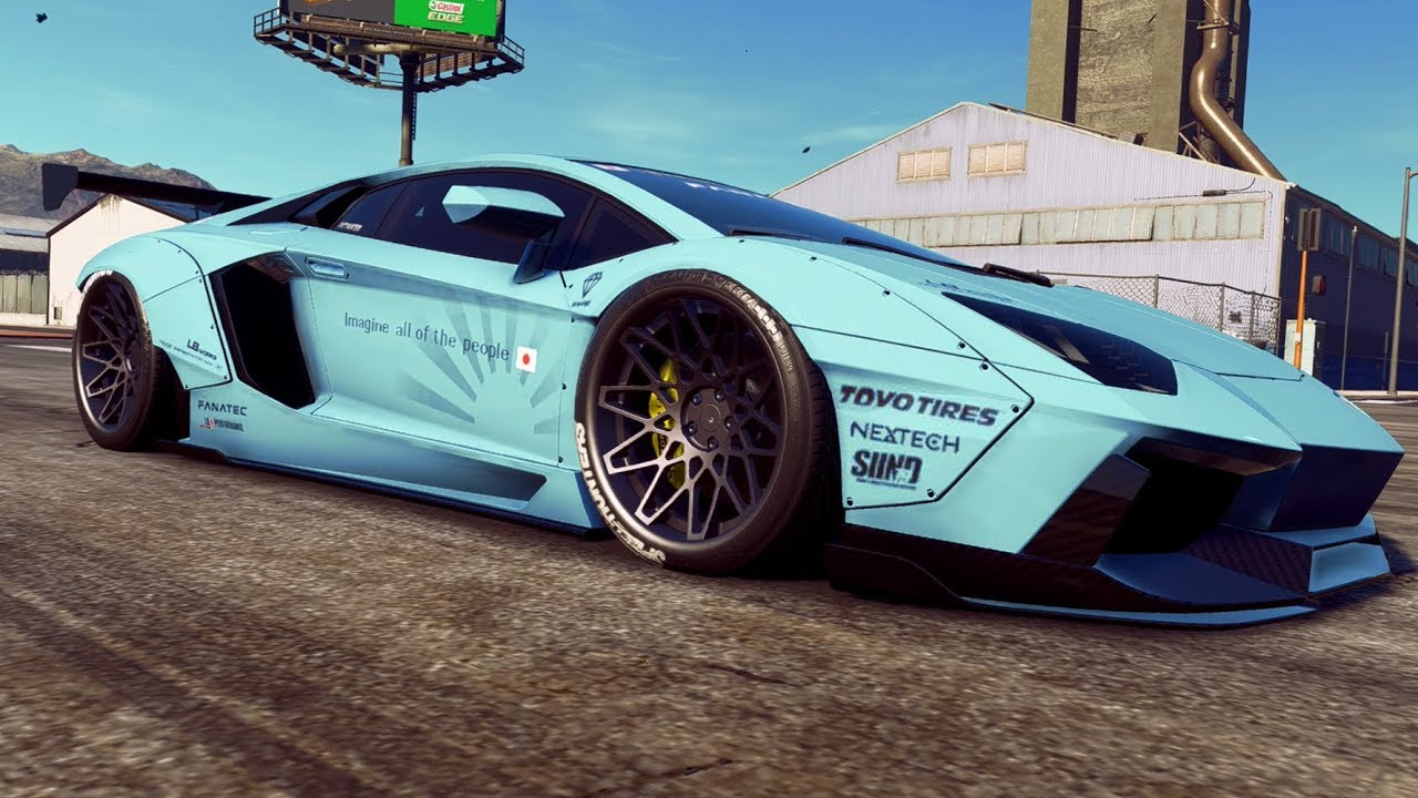 Need For Speed Payback Very Low Liberty Walk Aventador Build Youtube