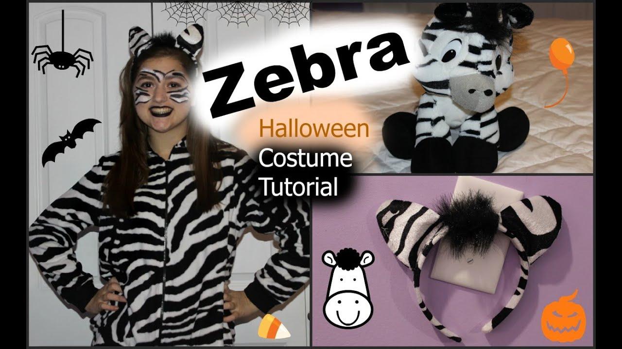 Easy zebra halloween costume tutorial diy youtube easy zebra halloween costume tutorial diy solutioingenieria Gallery