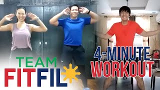 Download Mp3 4-minute Workout From Home Challenge With Robi Domingo | Team Fitfil Episode 1