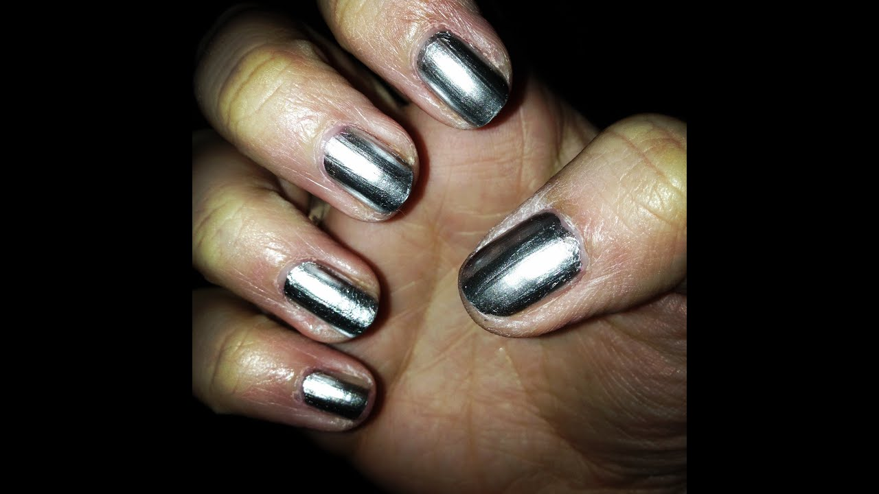 Chrome Nails - Tutorial+Review !! - YouTube