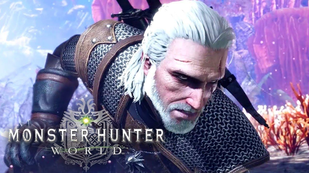 Risultati immagini per monster hunter world geralt