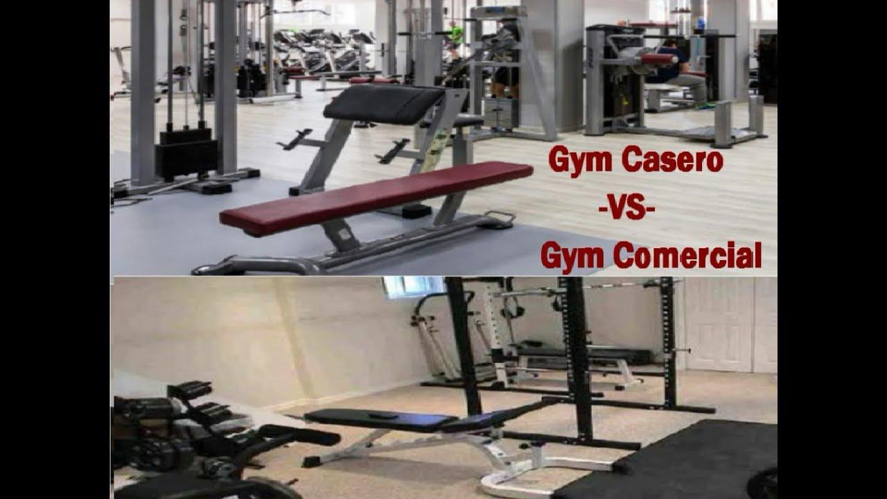 Gym casero vs gym comercial youtube for Gimnasio casero