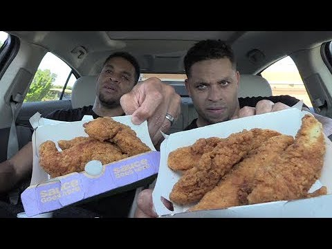 Eating McDonald's Buttermilk Crispy Tenders @hodgetwins