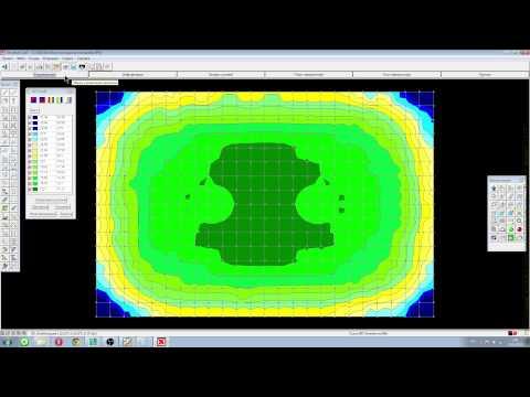 BC: Расчет фундаментной плиты на упругом основании. Scad + КРОСС