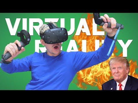 DONALD TRUMP EARTHQUAKE • Virtual Reality Gameplay