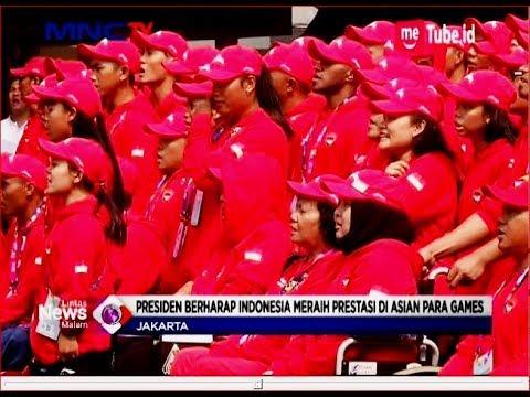 Lepas Kontingen Asian Para Games 2018, Jokowi Berikan Semangat - LIM 02/10 - 동영상