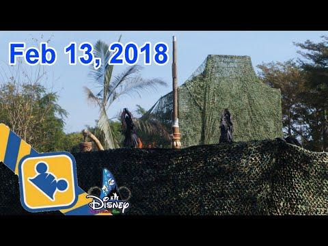 Construction Update:NEW Adventureland Show Place | Hong Kong Disneyland (Feb 13, 2018)