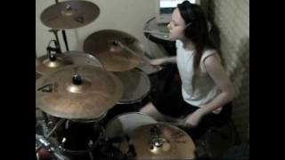 Slayer - Angel of Death (drum cover by Tamara)