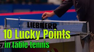 10 lucky points in table tennis