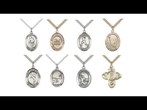 5703SS24S_STERLING SILVER SPORTS 5-WAY ST SEBASTIAN PENDANT WITH CHAIN
