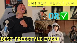 Is this Eminem Freestyle BETTER than (Kickoff Freestyle) [REACTION]