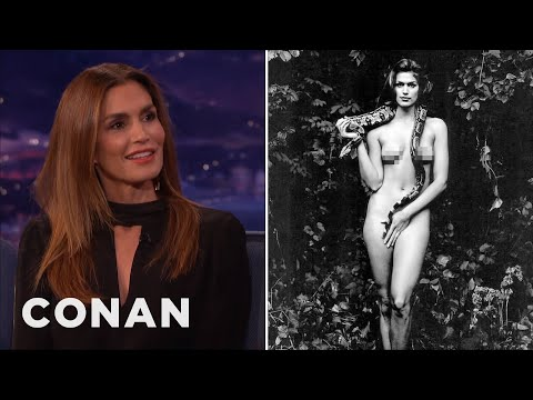 Cindy Crawford's Terrifying Tale Of Posing Naked With A Snake  - CONAN on TBS