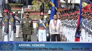 DUTERTE LATEST NEWS MARCH 18, 2018 | ARRIVAL OF HONORS COMMENCEMENT EXERCISE OF PMA