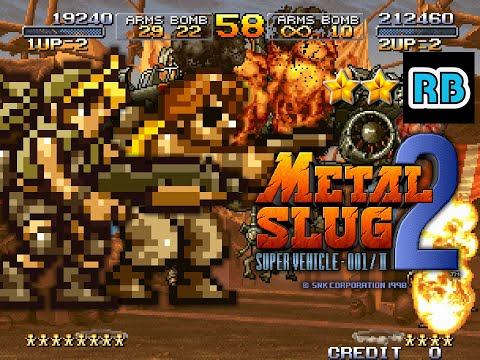 1998 [60fps] Metal Slug 2 2Players Nomiss ALL