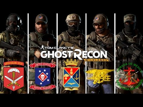 Ghost Recon Wildlands Special Forces outfits: Czech 601st, Marine Raiders, Mexican Marines  and more