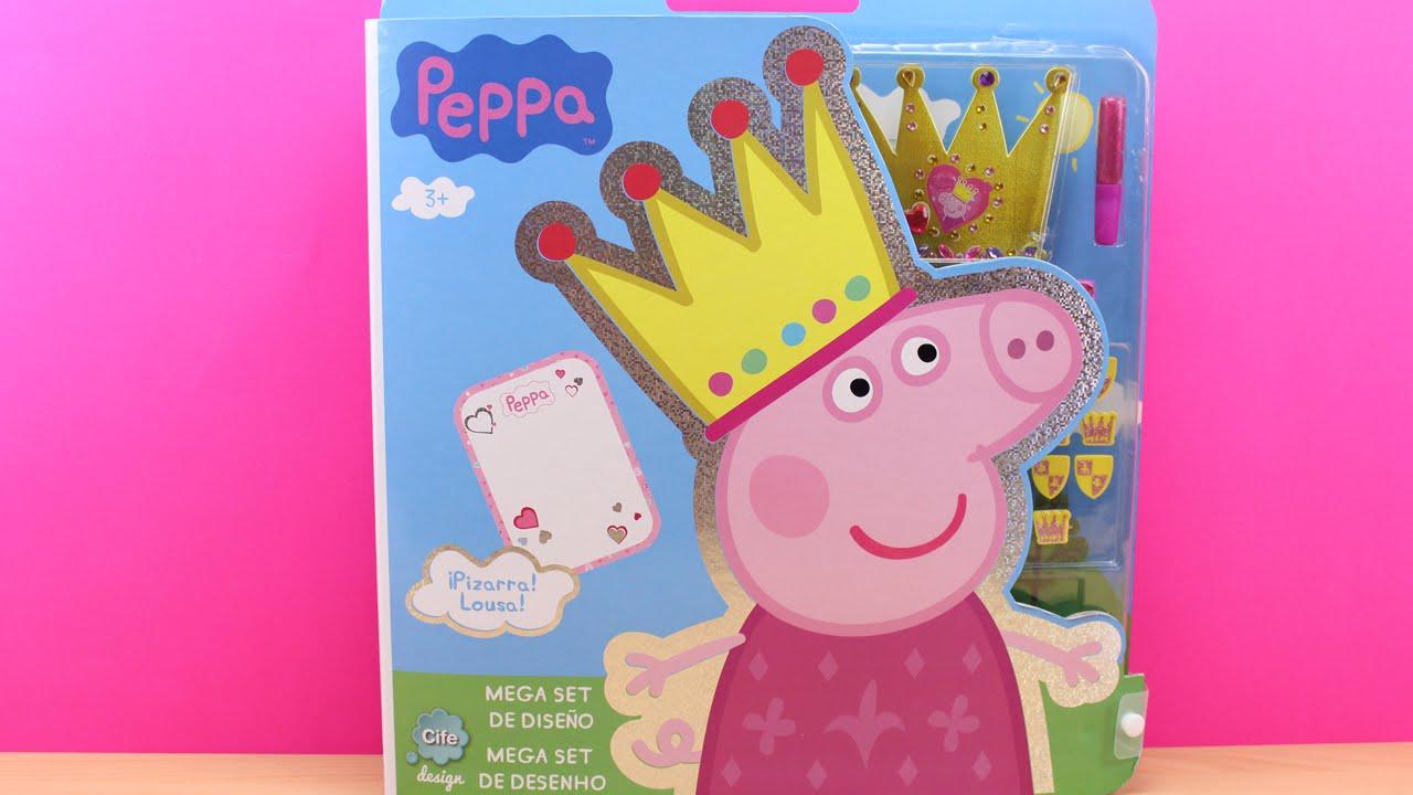 peppa pig mega set de diseo juguetes de peppa pig en espaol juguetes de peppa la cerdita youtube