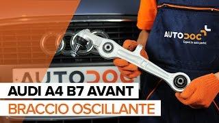 Come sostituire il braccio anteriore inferiore delle sospensioni anteriori su AUDI A4 B7 AVANT