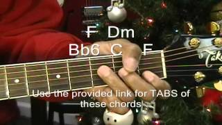 The Twelve Days Of Christmas Guitar Lesson How To Play EricBlackmonMusic Instruction