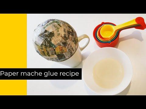 Easy Paper Mache Glue Recipe  - Basic Paper Mache Technique Using Balloon