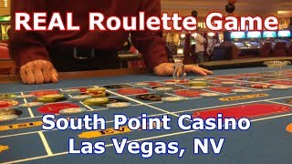 REAL Roulette Game - CHATTY DEALER - South Point Casino, Las Vegas, NV - LR#1 - Inside the Casino