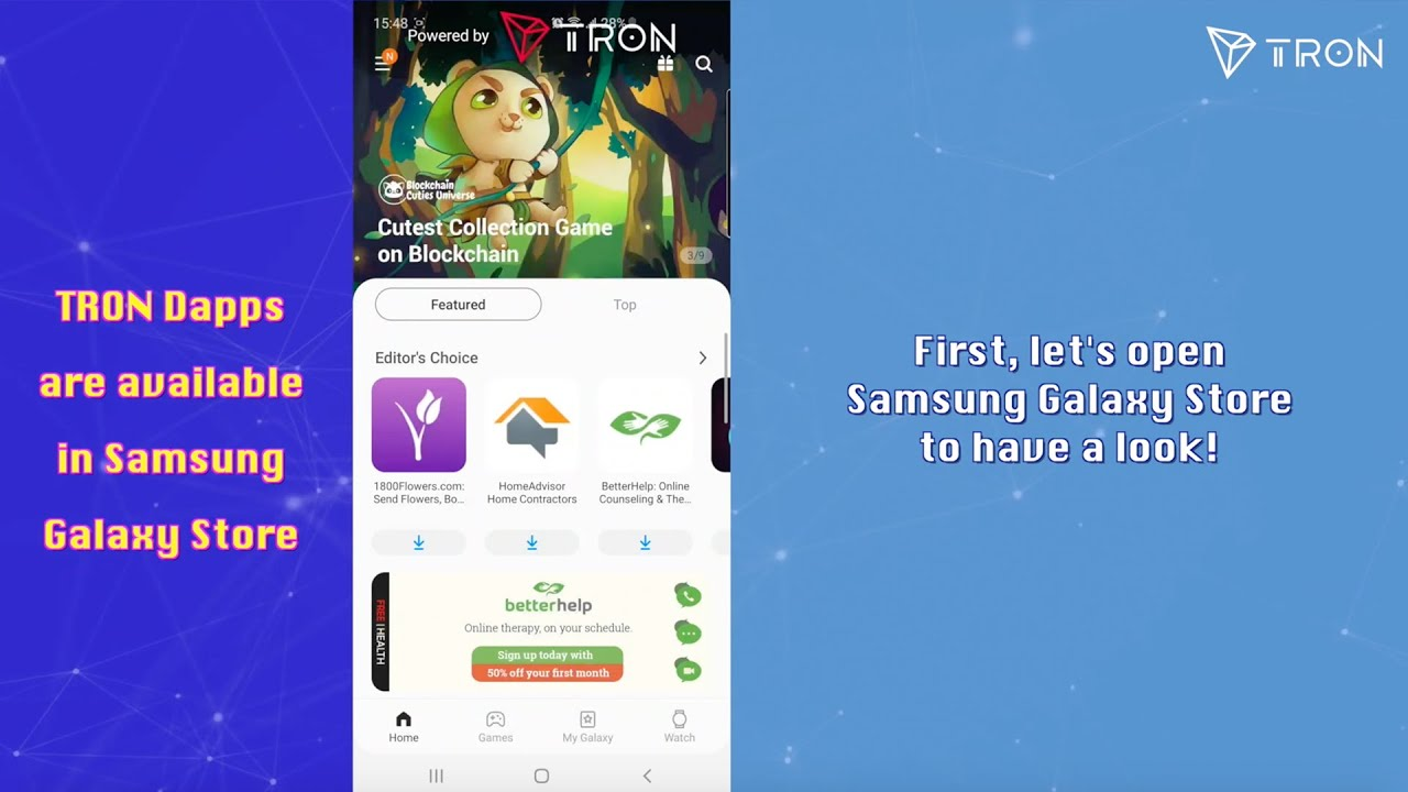 TRON Dapps are Available in Samsung Galaxy Store 18