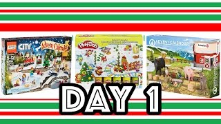 Lego, Schleich and Play-Doh Advent Calendars - DAY 1 (With the Toy Bunker!)