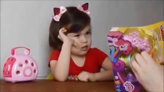 Милий Поні МЛП набір пластиліну Плейдо розпакування MLP My Little Pony unboxing Play-Doh set