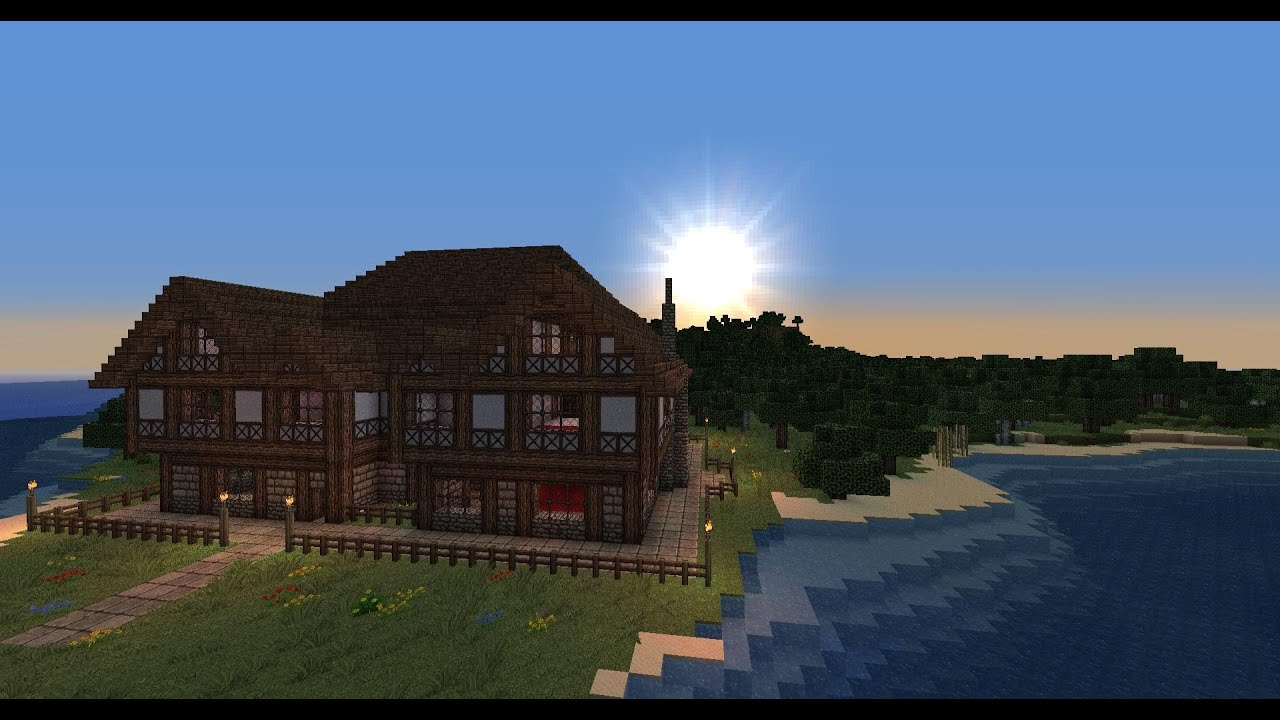 how to make a mansion in minecraft tutorial