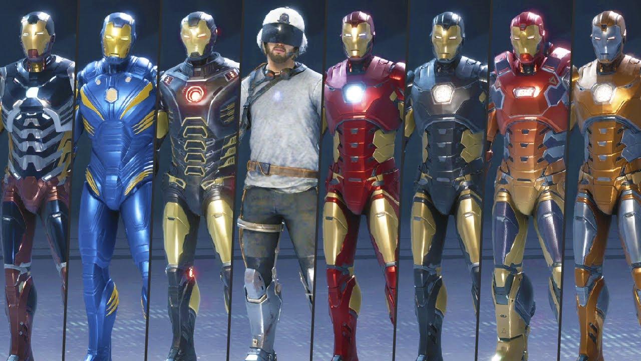 All Iron Man Skins in Marvel's Avengers (2020)