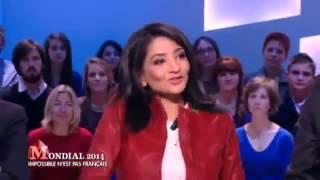 وزيرة فرنسية تخلع ملابسها على الهواء فرحا بتاهل الجزائر