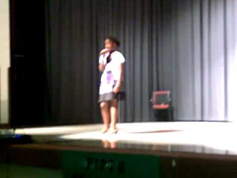 My 11 year old niece singing I'll be there by Tiffany Evans