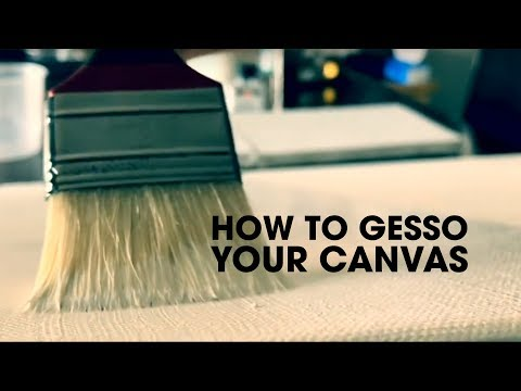 How to gesso your canvas – free oil painting tutorials