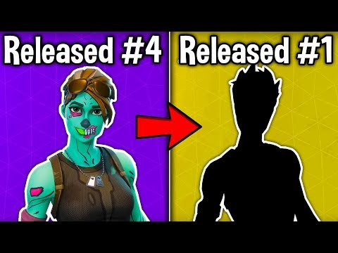 10 FIRST SKINS RELEASED In Fortnite Battle Royale! (These Skins Are OG)