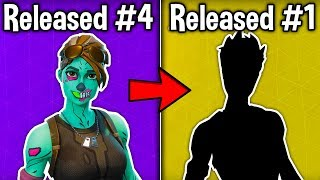 ¡10 PRIMERAS PIELES RELEASED en Fortnite Battle Royale! (Estas pieles son OG)