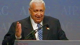 Ariel Sharon explains Gaza withdrawal at AIPAC; would suffer stroke 8-months later