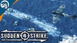 HUGE ICE ROAD HIGHWAY DEFENSE | Sudden Strike 4 - Soviet Campaign Gameplay #1