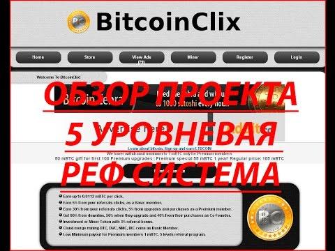 Bitcoinclix.com заработок Bitcoin без вложений на просмотре рекламы