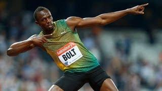 Финал на 100м 2013 Москва Усэйн Болт
