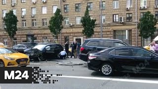 Фото Движение на внутренней стороне Садового кольца ограничено из-за ДТП - Москва 24