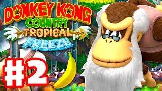 Donkey Kong Country: Tropical Freeze - Gameplay Walkthrough Part 2 - World 1: Cranky Kong 100% thumbnail