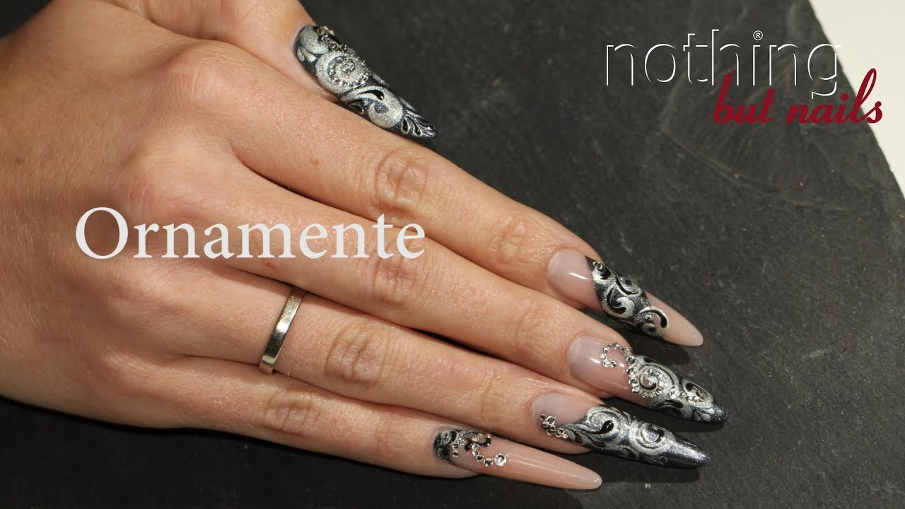 5 nails 5 designs - Ornamente Schnörkel - letzter Teil - YouTube