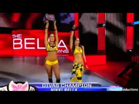 The Bella Twins enter the arena with John Cena's theme song (Requested)