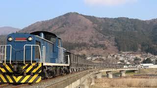 岩手開発鉄道 DD56形+ホキ100形 149レ 赤崎~盛 2019年1月5日