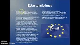 EU:n toimielimet