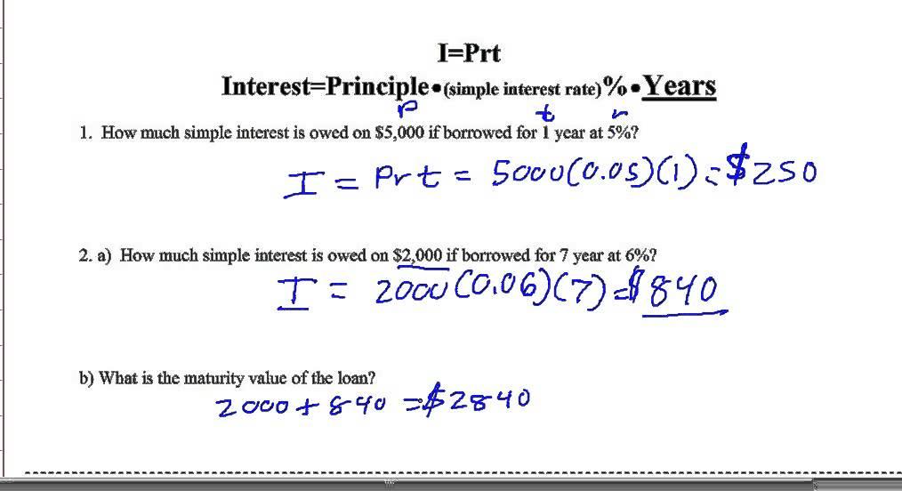 Simple Interest Word Problems | www.pixshark.com - Images ...