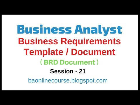 Business Requirements Template Tutorial | Business Analyst BRD Document | Sample BRD Template