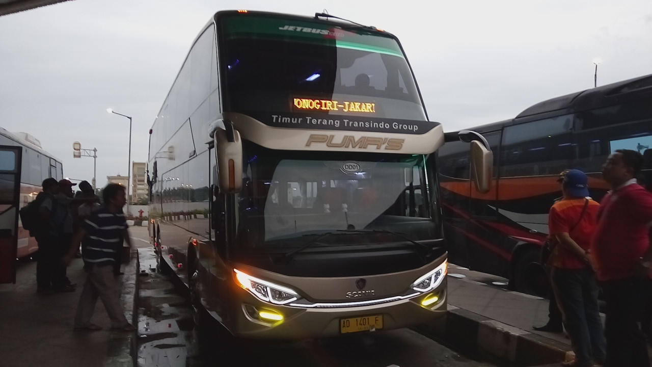 Journey With Putera Mulya SCANIA K410 IB Luxury Double Decker Bus